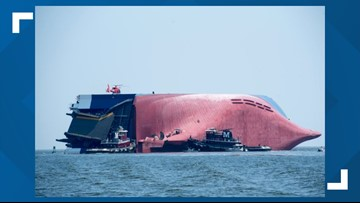 Coast Guard shifts efforts to removal of overturned 71,000-ton cargo ship in St. Simons Sound