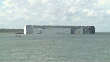 Port of Brunswick remains closed after cargo ship overturned on Sunday in St. Simons Sound
