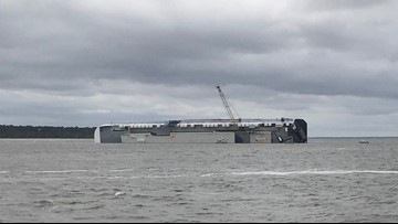 Fire onboard overturned Golden Ray cargo ship quickly put out: Altahama Riverkeeper spokesperson
