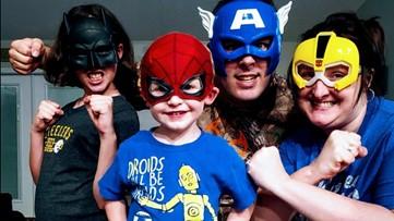 Junior superheroes get mom and dad singing quarantine song