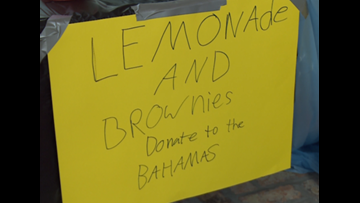 Kids start lemonade stand for those affected by Hurricane Dorian in the Bahamas