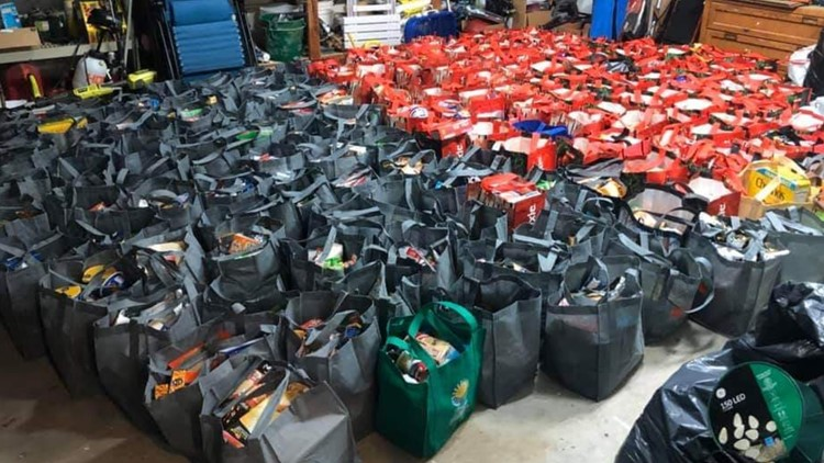 Over 170 bags of food given to homeless Orange Park High School students for holidays