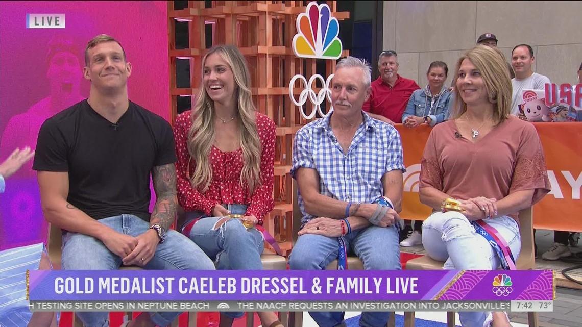 Caeleb Dressel on Today: Caeleb's reunion with family