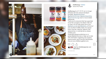 Kenny Gilbert, 'Best Chef in Jacksonville', cuts ties with four restaurants due to irreconcilable differences