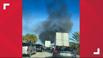 All lanes of I-295 back open at Atlantic Boulevard after semi-truck fire