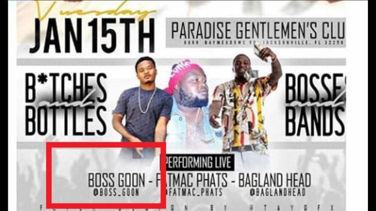 Paradise Gentlemen's Club flyer