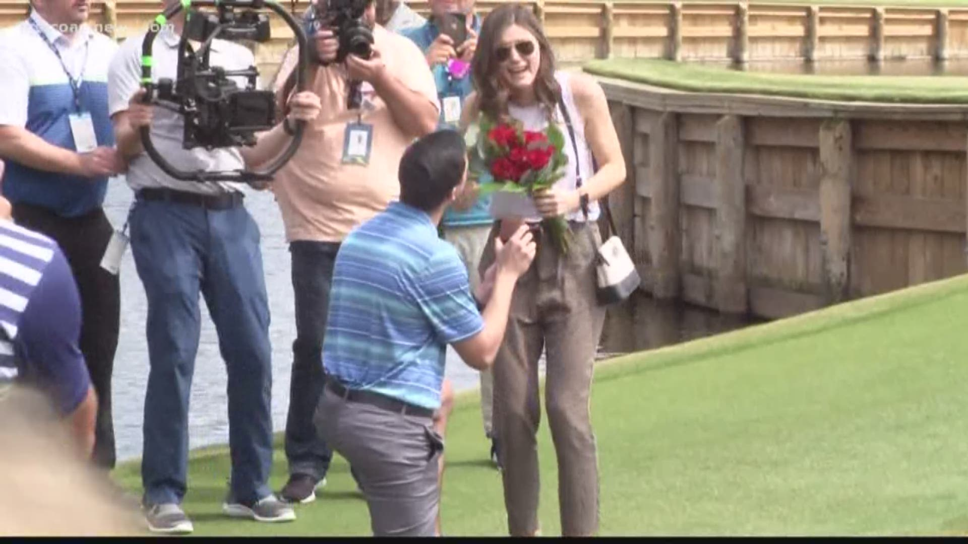 Sergio Garcia helps man propose to his girlfriend at The Players  Championship | firstcoastnews.com