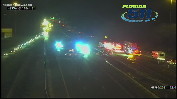 Lanes reopen after crash with injuries on I-295 in Jacksonville