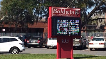 Overnight vandalism at Baldwin Middle-Senior High possibly part of senior prank