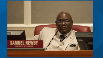 Jacksonville Councilman Sam Newby home after being treated for COVID-19