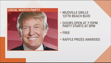 First Coast watch party for President Trump's re-election kick off