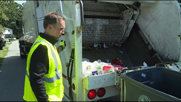 Mayor Curry travels the City with Solid Waste crews to bring awareness to proper recycling habits