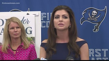 Florida's First Lady Casey DeSantis discusses Hope for Healing initiative at First Coast High School in Jacksonville