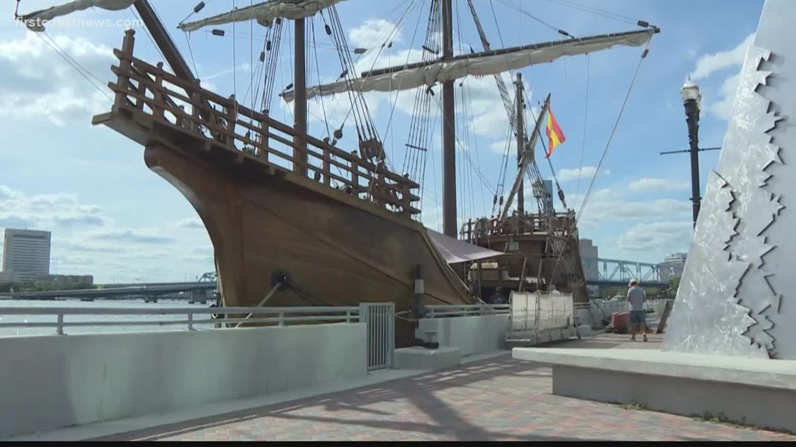 Santa Maria replica ship docks in Jacksonville this weekend