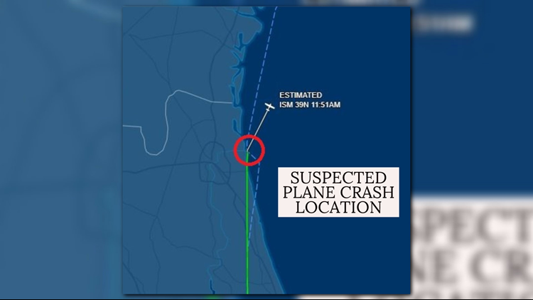 Suspected plane crash location