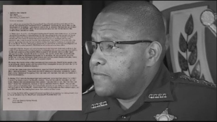 'He is losing touch with reality and appears violent': Complaint letter begs governor's help with Sheriff Daniels