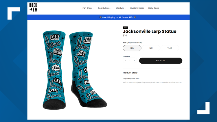 'Jacksonville Lerp Statue' socks go on sale after design for Riverfront Plaza draws criticism