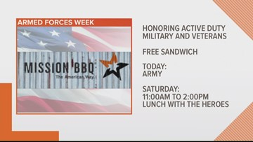 Mission BBQ Armed Forces Week honors active duty and veterans
