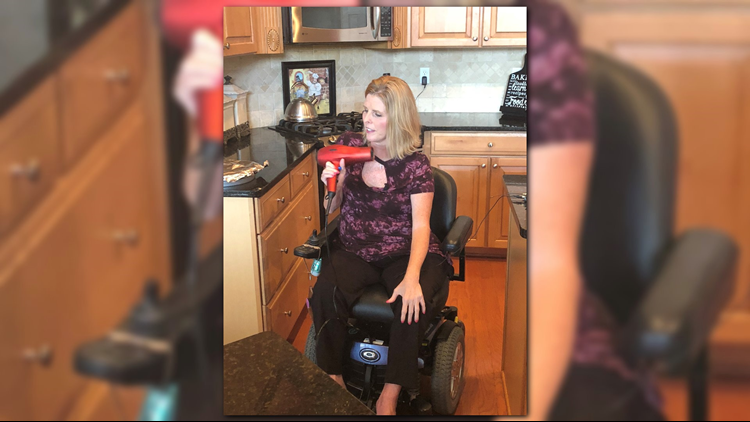 Jeana Kinley of St. Johns County was the first adult in Florida to receive a drug called Sprinraza which was approved by the FDA in late 2016.