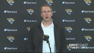 Nick Foles addresses media at introductory press conference
