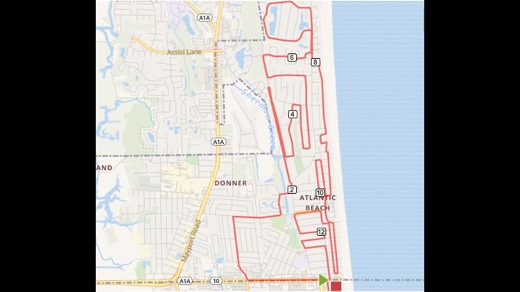 Half marathon map Donna