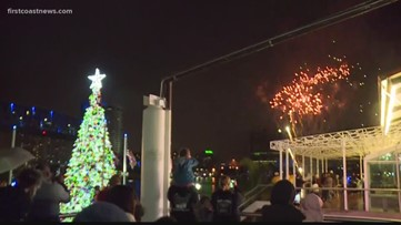 Annual Christmas tree-lighting happens at Hemming Park for the first time