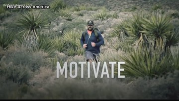 Marine veteran hikes across America in support of wounded veterans