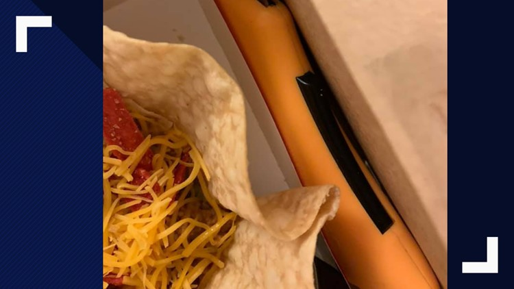 Box cutter found in Taco Bell salad