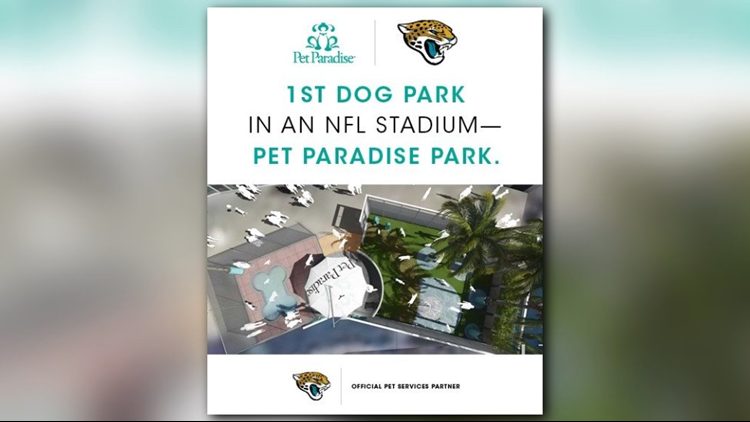 Jags' best friend? NFL team first with dog park inside stadium