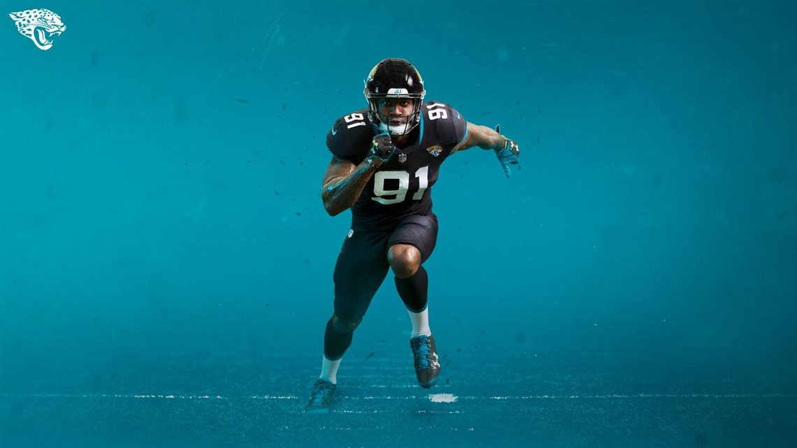 Jaguars unveil new uniforms during  State of the Franchise ... afd2c0a2c
