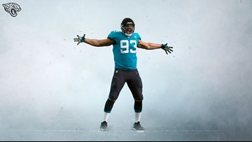 buy popular 0c531 c33ad Jaguars could wear their teal alternate uniforms three times ...