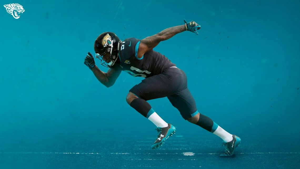 4762cc6cf0f Jaguars could wear their teal alternate uniforms three times this ...