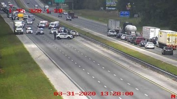 Lanes reopen after crash causes heavy congestion on I-95 in both directions near CR-210