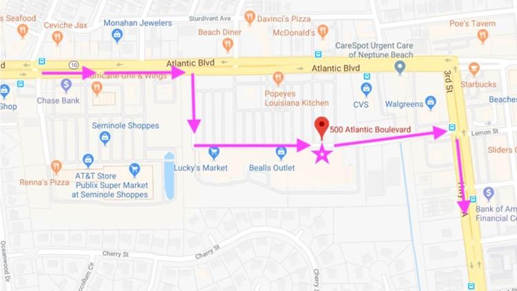 Donna Rideshare map