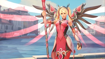 You can now buy a pink charity skin for Mercy in 'Overwatch', proceeds go to breast cancer research