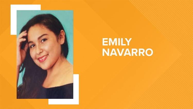 Emily Navarro was last seen Monday on Flintwood Street near Valley Road. Navarro has black hair and brown eyes.