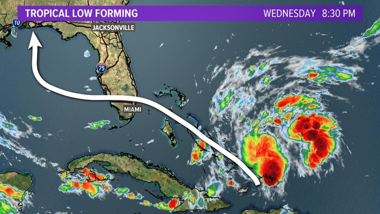 Tropical Low forming