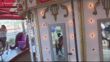 Historic St. Augustine carousel has long lines as community lines up for one last ride