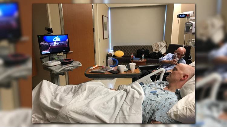 Several moving parts and giving hearts came together in order to make sure a man recovering from colon cancer surgery was able to watch his son give a Valedictorian speech at Douglas Anderson School of the Arts.
