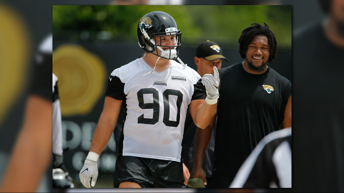5f21a7299 Jaguars Training Camp, Day 11: Bryan misses practice for first time, Ramsey  makes incredible play | firstcoastnews.com