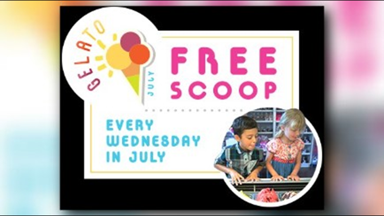Customers can enjoy one free scoop of homemade gelato every Wednesday this month!