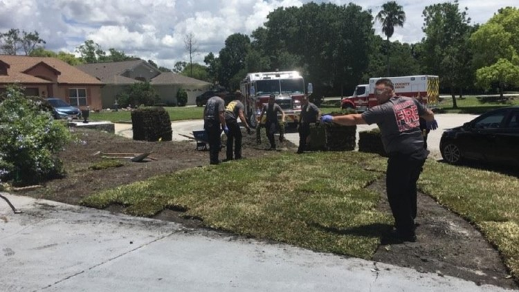 When this Hudson man had a heart attack and couldn't finish his yard work, Pasco fire and rescue crews who brought him to the hospital stepped in to make sure the work was finished.