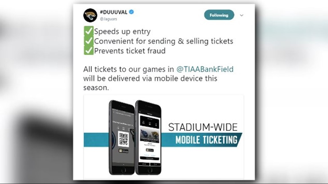 Jaguars Go Paperless In Move To Stadium Wide Mobile Ticketing And Some Fans  Arenu0027t Happy | Firstcoastnews.com