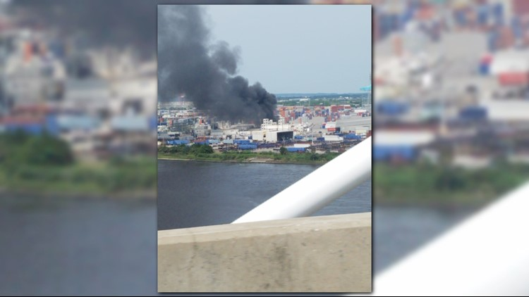 Jacksonville Fire and Rescue crews responded to a shipment truck fire on Blount Island in north Jacksonville Friday afternoon.