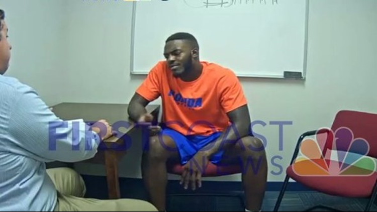 WATCH: Police release video of Gators football player discussing acquaintance with reported gambler