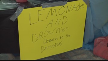 Kids in St. Johns County neighbor raise money for those in the Bahamas through lemonade stand