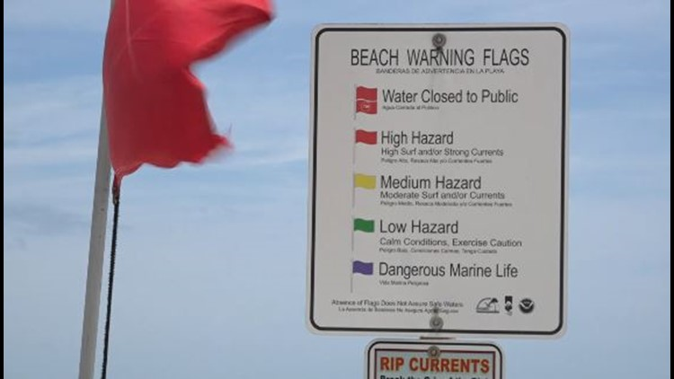 St. Johns County beaches under red flag conditions due to rip currents