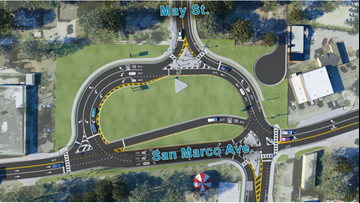 Busy St. Augustine intersection under construction