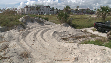 Sand dunes at Jacksonville Beach to be cleared for routine maintenance