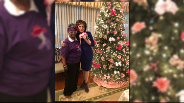 Jacksonville Red Hat Society goes all out to 'Buy the Bus!'